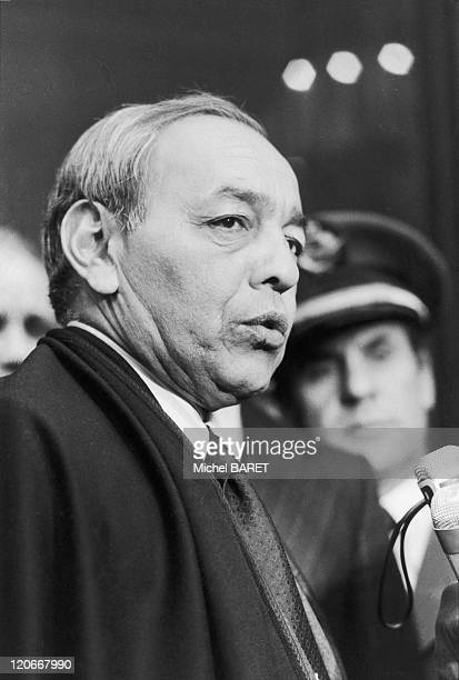 Hassan II at Elysee in Paris France on February 16 1979