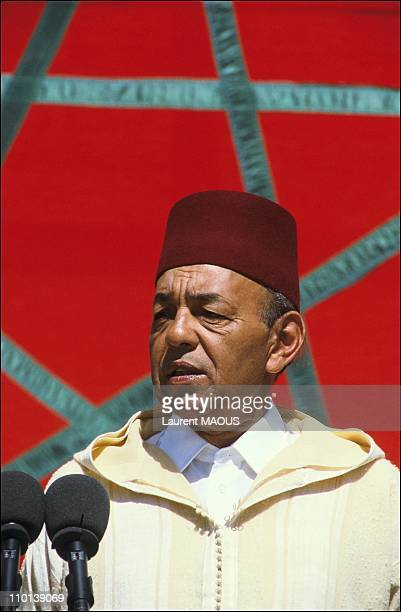 Hassan II celebrates 25 years of reign in Marrakech, Mauritania on March 4, 1986.