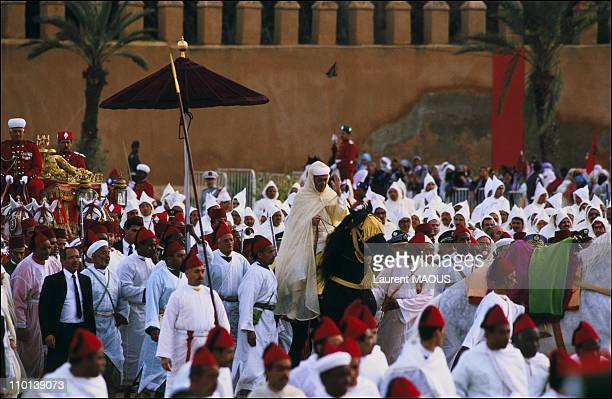 Hassan II celebrates 25 years of reign in Marrakech Mauritania on March 4 1986