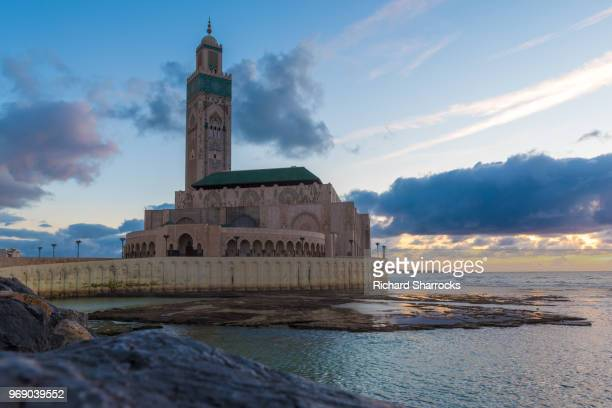 hassan ii mosque, casablanca, morocco - mosque hassan ii stock photos and pictures