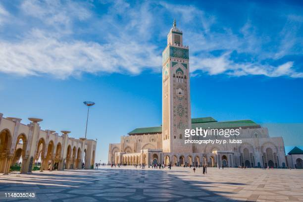 hassan ii mosque - casablanca - mosque hassan ii stock photos and pictures