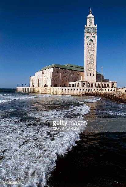 Hassan II Mosque designed by Michel Pinseau Casablanca Morocco 20th century