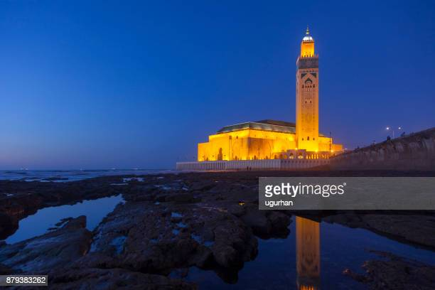 hassan ii mosque in casablanca, morocco - mosque hassan ii stock photos and pictures