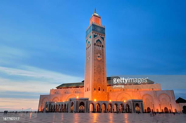 mosquée hassan ii - mosque hassan ii photos et images de collection
