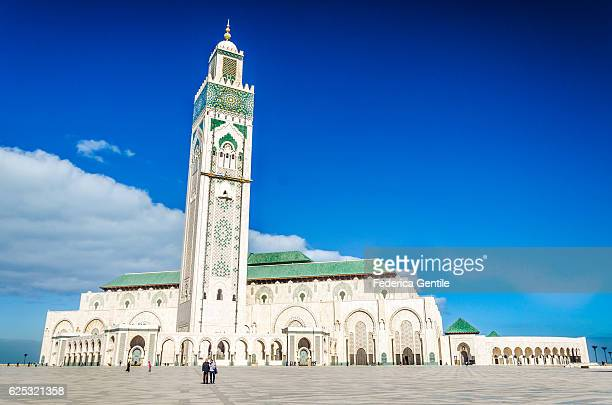hassan ii mosque - mosque hassan ii stock photos and pictures