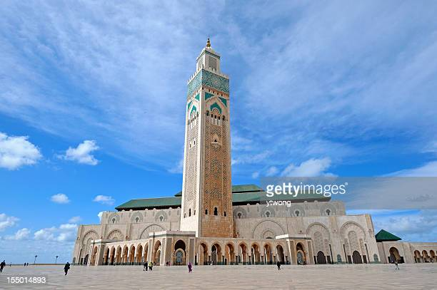 hassan ii mosque the landmark in casablanca - mosque hassan ii stock photos and pictures
