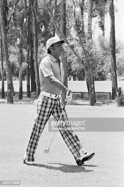 Hassan II of Morocco Playing Golf