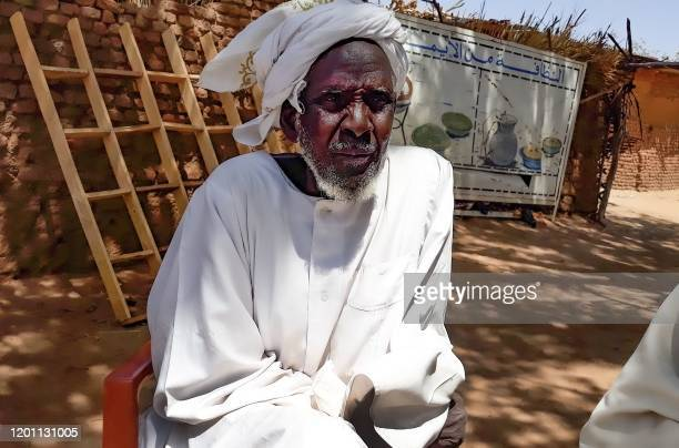 Hassan Issac an internally displaced person who escaped from fighting and currently resides in Camp Kalma speaks during an interview at the camp...
