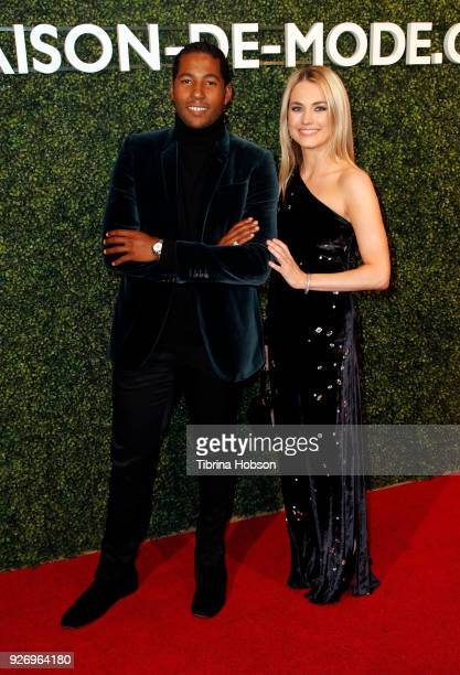 Hassan Pierre and Amanda Hearst attend MAISONDEMODE celebration of sustainable style by honoring Suzy Amis Cameron of Red Carpet Green Dress at...