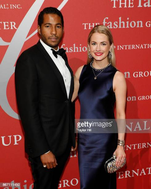 Hassan Pierre and Amanda Hearst attend the 2017 Night of Stars Gala at Cipriani Wall Street on October 26 2017 in New York City