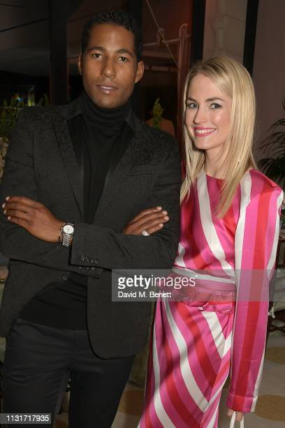 Hassan Pierre and Amanda Hearst attend the MAISONDEMODECOM Sustainable Style Gala at The Sunset Tower on February 23 2019 in Los Angeles California