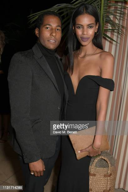 Hassan Pierre and Grace Mahary attend the MAISONDEMODECOM Sustainable Style Gala at The Sunset Tower on February 23 2019 in Los Angeles California