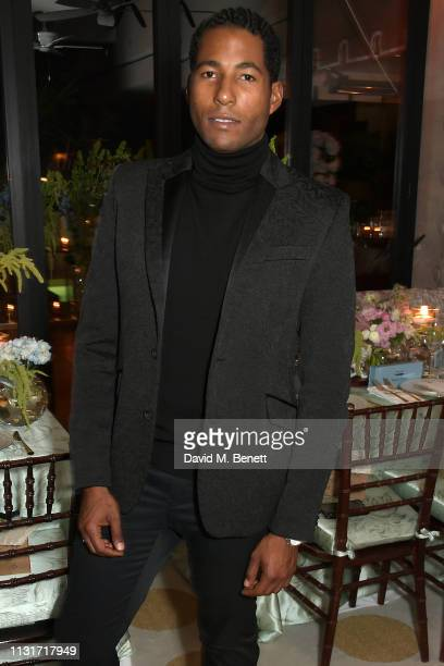 Hassan Pierre attends the MAISONDEMODECOM Sustainable Style Gala at The Sunset Tower on February 23 2019 in Los Angeles California