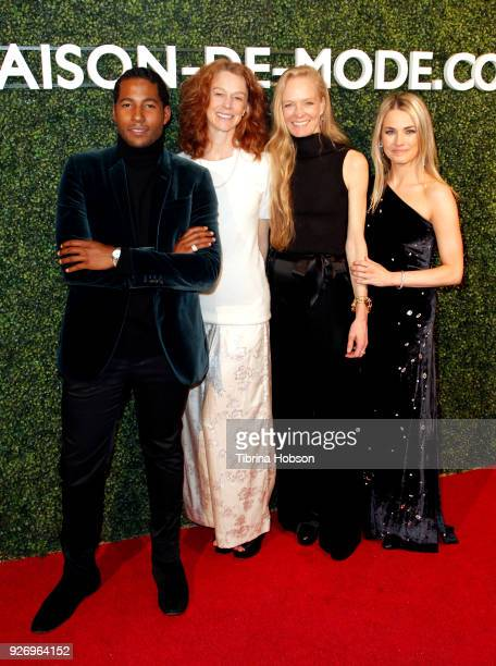 Hassan Pierre Rebecca Amis Suzy Amis and Amanda Hearst attend MAISONDEMODE celebration of sustainable style by honoring Suzy Amis Cameron of Red...