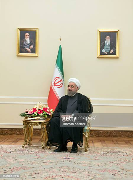 Hassan Rohani, President of Iran, during a meeting with german foreign minister Steinmeier on October 17, 2015 in Tehran, Iran.