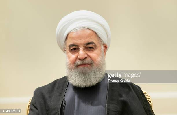 Hassan Rouhani President of Iran pictured during a meeting with German Foreign Minister Heiko Maas on June 10 2019 in Tehran Iran
