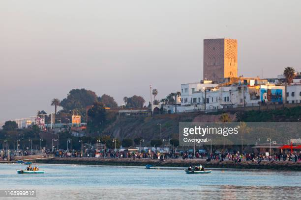 hassan tower in rabat - gwengoat stock pictures, royalty-free photos & images