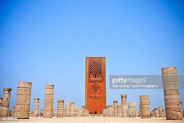 hassan tower - rabat morocco stock pictures, royalty-free photos & images