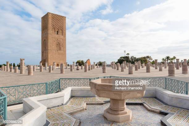hassan tower, rabat, morocco - casablanca morocco stock pictures, royalty-free photos & images