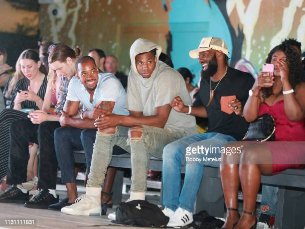 Hassan Whiteside attends the 6th Annual A Night On The Runwade at Aventura Mall on March 16 2019 in Miami Florida