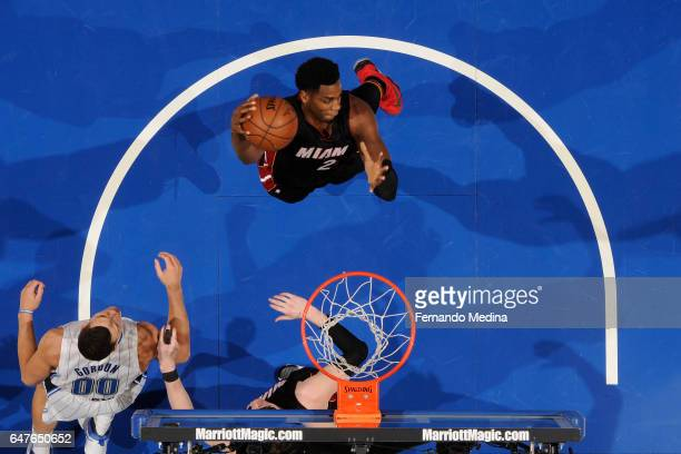 Hassan Whiteside of the Miami Heat grabs the rebound against the Miami Heat on March 3 2017 at the Amway Center in Orlando Florida NOTE TO USER User...