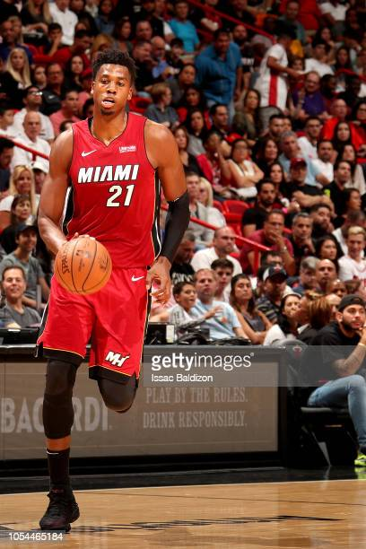 e6c30992770d Hassan Whiteside of the Miami Heat handles the ball against the Portland  Trail Blazers on October