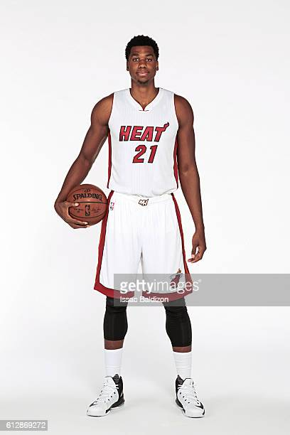 Hassan Whiteside of the Miami Heat poses for a portrait during the 20162017 Miami Heat Media Day on September 26 2016 at FedExForum in Memphis...