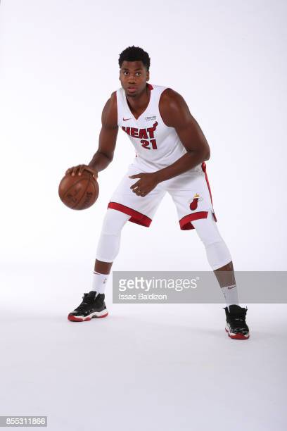 Hassan Whiteside of the Miami Heat poses for a portrait on September 25 2017 at American Airlines Arena in Miami Florida NOTE TO USER User expressly...