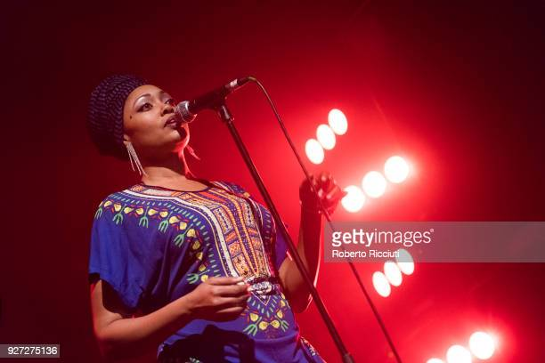 Hassanah of The Wailers performs on stage at O2 ABC Glasgow on March 4 2018 in Glasgow Scotland
