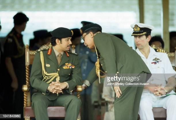 Hassanal Bolkiah, Sultan of Brunei, Omar Ali Saifuddien III, former Sultan of Brunei, Prince Charles, Prince Charles, Prince of Wales, visits Brunei...
