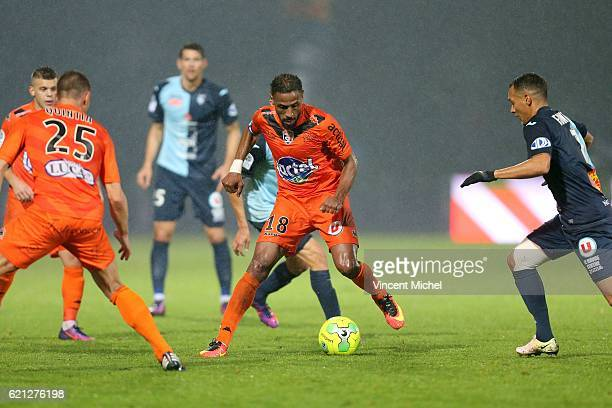 Hassane Alla of Laval during the Ligue 2 match between Stade Lavallois and Le Havre AC on November 4 2016 in Laval France