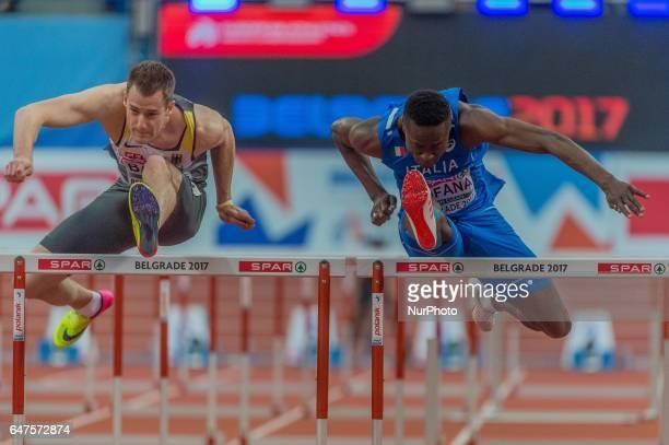Hassane FofanaItaly during 60m Hurdles for men at European athletics indoor championships in Belgrade on March 3 2017