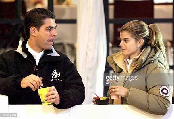 FrenchGreek Athina Onassis watches her husband Brazilian Alvaro Affonso de Miranda Neto known as Doda 24 Februray 2006 during the second day of the...