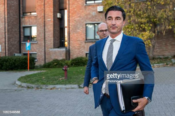 Hasselt BELGIUM on October 11 2018 People involved in the large scale inquiry about fraud corruption money laundering and match fixing in belgian...
