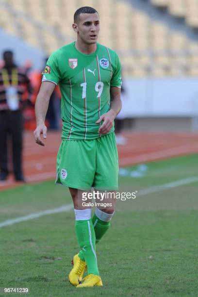 Hassen Yebda of Algeria in action during the African Cup of Nations group A match between Malawi and Algeria at the November 11 Stadium on January 11...