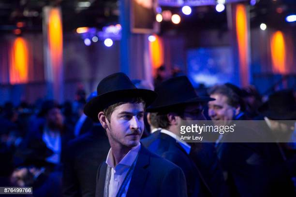 Hassidic rabbis and guests from around the world attend the ChabadLubavitch annual dinner on November 19 2017 in Bayonne New Jersey More than 5000...