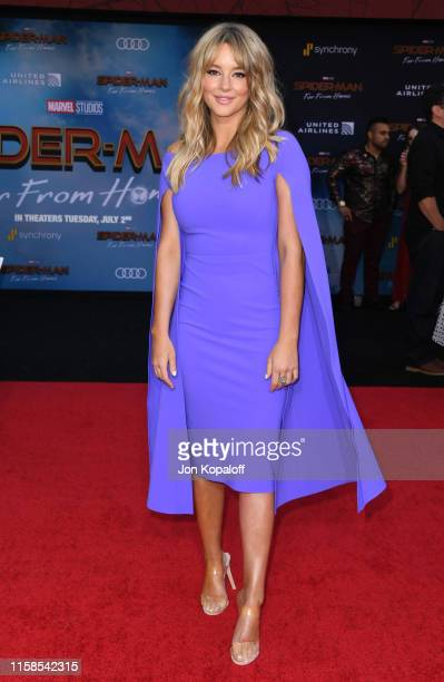 Hassie Harrison attends the Premiere Of Sony Pictures' SpiderMan Far From Home at TCL Chinese Theatre on June 26 2019 in Hollywood California