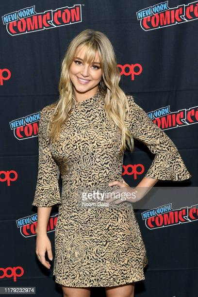 Hassie Harrison attends the Tacoma FD press line during New York Comic Con 2019 at Jacob Javits Center on October 05 2019 in New York City