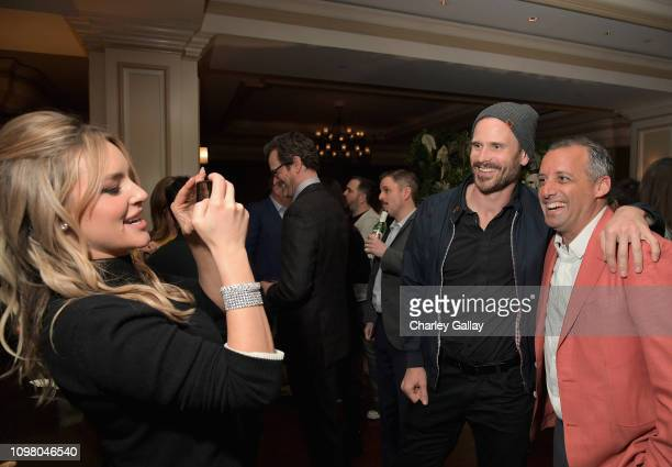Hassie Harrison Gabriel Hogan and Joe Gatto attend the truTV Happy Hour at The Langham Huntington Hotel and Spa on February 11 2019 in Pasadena...