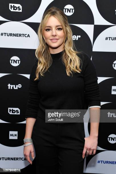 Hassie Harrison of the television show 'Tacoma FD' poses in the green room during the TCA Turner Winter Press Tour 2019 at The Langham Huntington...