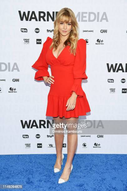 Hassie Harrison of truTV's Tacoma FD attends the WarnerMedia Upfront 2019 arrivals on the red carpet at The Theater at Madison Square Garden on May...