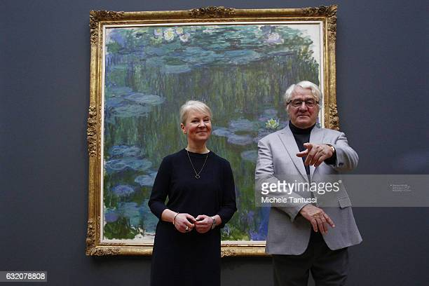 Hasso Plattner who is cofounder of German software maker SAP and a financial backer of the Barberini Museum and Ortrud Westheider Director of the...
