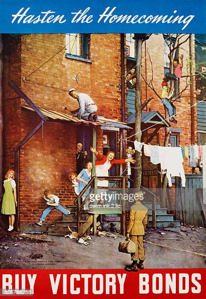 Hasten the Homecoming - Buy Victory Bonds Poster by Norman Rockwell