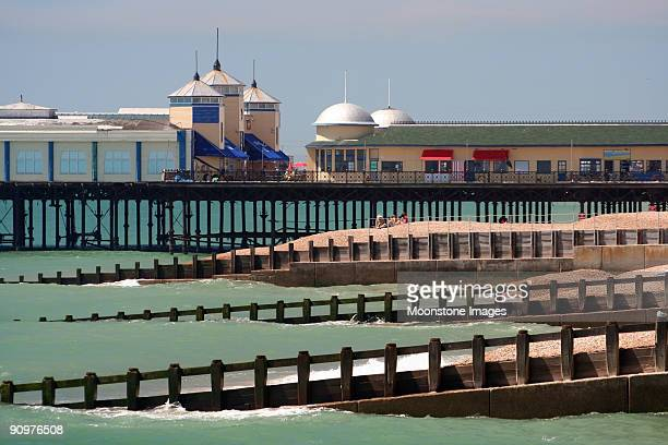 hastings pier in east sussex, england - hastings stock photos and pictures