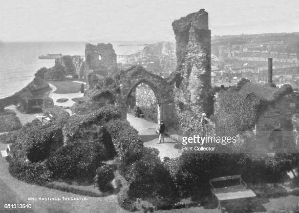 Hastings. The Castle, 1907. From The British Printer Vol. XX. [Raithby, Lawrence & Co., Ltd, London and Leicester, 1907]. Artist Photochrom Co Ltd of...