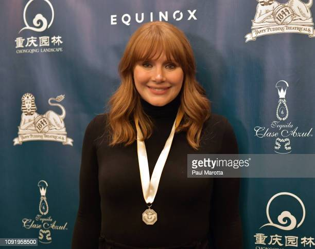 Hasty Pudding Theatricals honors Bryce Dallas Howard as 2019 Woman of The Year at Farkas Hall on January 31 2019 in Cambridge Massachusetts