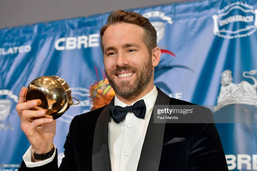 Hasty Pudding Theatricals Honors Ryan Reynolds as 2017 Man Of The Year on February 3, 2017 in Cambridge, Massachusetts.