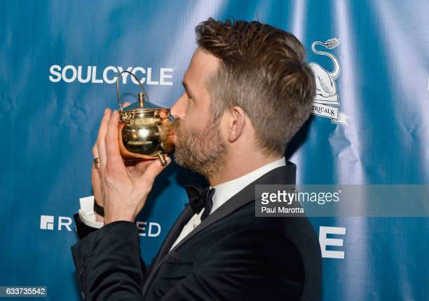 Hasty Pudding Theatricals Honors Ryan Reynolds as 2017 Man Of The Year on February 3 2017 in Cambridge Massachusetts