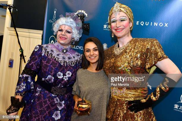 Actor Mila Kunis attends Hasty Pudding Theatricals Honors Mila Kunis as 2018 Woman Of The Year on January 25 2018 in Cambridge Massachusetts
