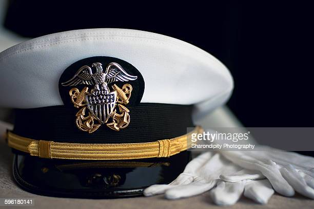 hat and gloves - us navy stock pictures, royalty-free photos & images
